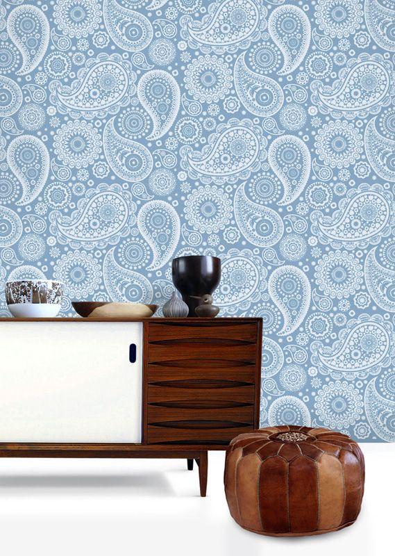 Tapet 74561: Paisley Crescent Chalkhill Blue från Minimoderns - Tapetorama