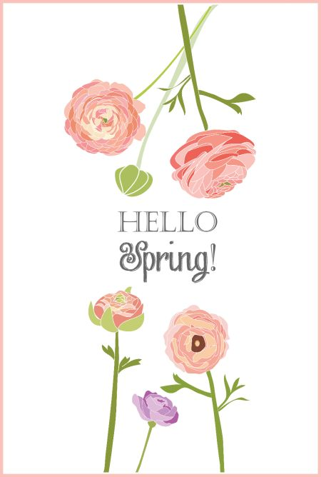 Free Hello Spring Printable | On Sutton Place