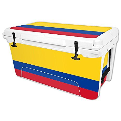 MightySkins Protective Vinyl Skin Decal for RTIC 65 qt Cooler wrap cover sticker skins Colombian Flag -- Learn more by visiting the image link.