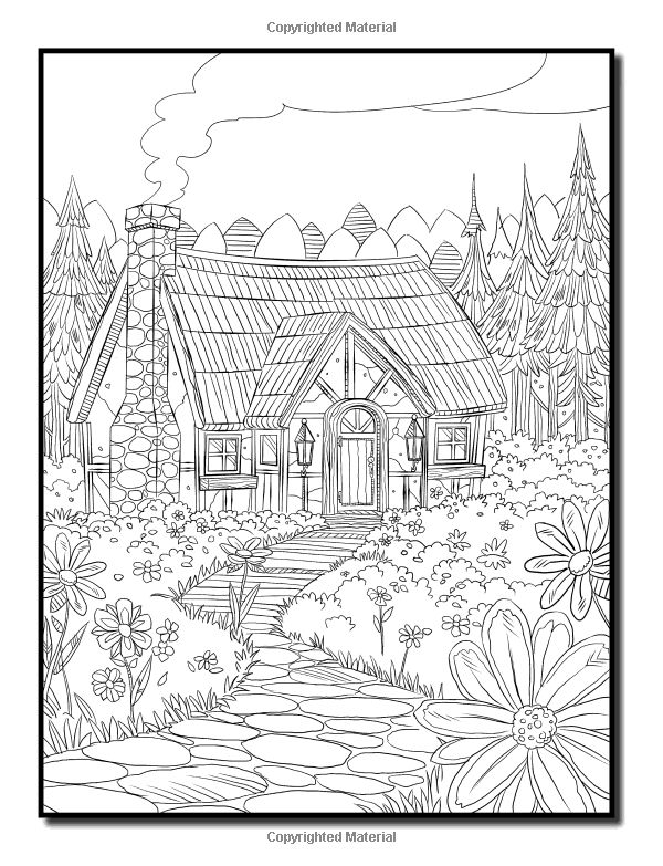 summer scene coloring pages - photo#23