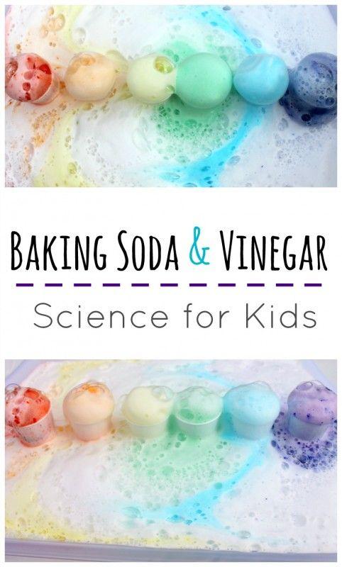 Rainbow Baking Soda And Vinegar Science Baking Soda