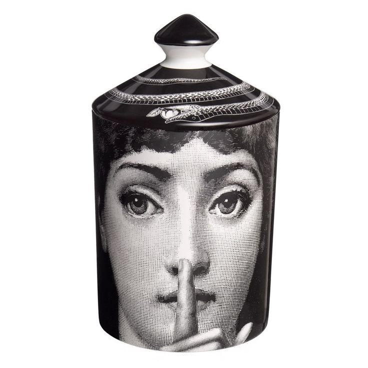 Add an air of opulence to your home with this Silenzio scented candle from Fornasetti featuring the signature Otto fragrance with notes of thyme, lavender, cedarwood, tolu balsalm, labdanum & incense. #scentedcandle