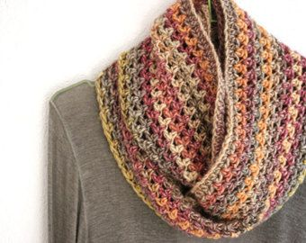Popular items for scarf crochet infinity on Etsy