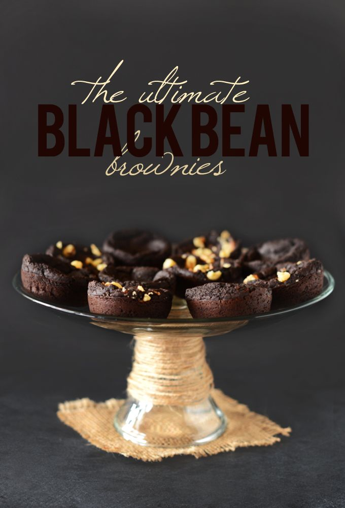 The Ultimate Fudgy Black Bean Brownies vegan gluten free no flour needed and seem pretty easy and simple