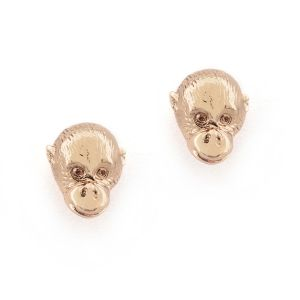 Orangutan Head Stud Rose Gold