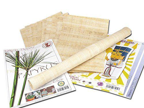 Papyrus-Blätter 10 Blatt Blanko Natur-Papyrus 30x20cm aus Ägypten für Schulen & Kunst-Unterricht kostenloser Bastelbogen - Blanco Hochzeitskarten aus Papyri - Hieroglyphen Papyrus Blatt, Einladung Hochzeit - Taufe - Geburtstag - Jubiläum - Abschied