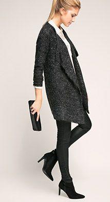 Esprit / Elegant vest van mohair met pailletten