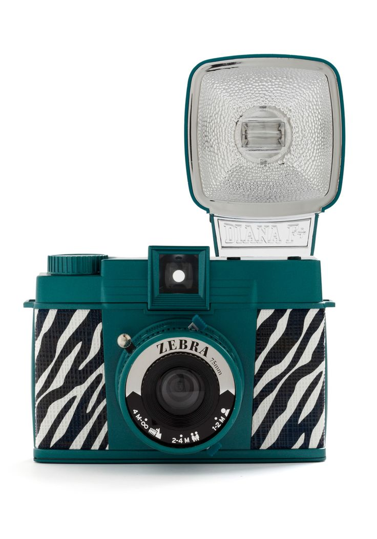 Diana F+ Camera in Zebra - $99.99: Zebra Camera, Diana, Mod Retro, Vintage Electronics, Modcloth Com, Retro Vintage, Photography, Zebras, Cameras