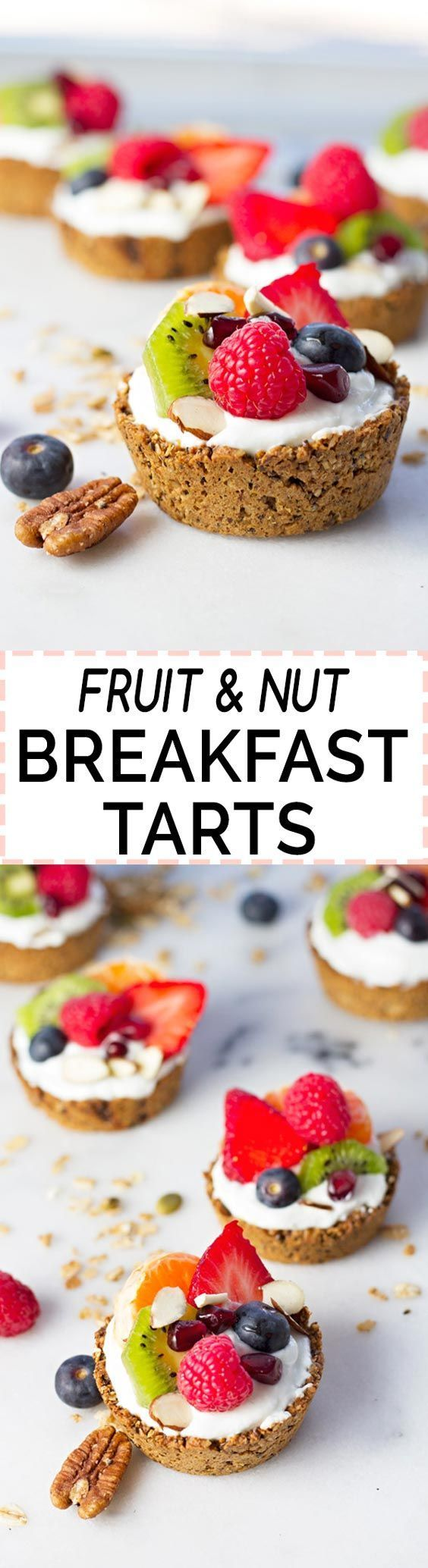 Fruit & Nut Breakfast Tarts! Healthy, easy to make, and perfect to take on-the-go :)
