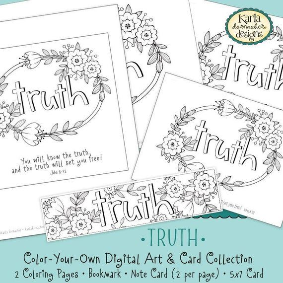 Truth Word Of The Year 52 Words John 8 32 Coloring Page