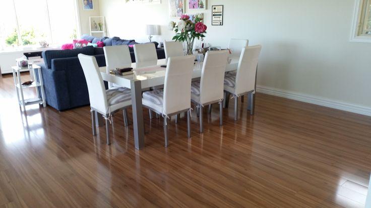 Timber Impressions Platinum Laminate Flooring - Queensland Walnut.