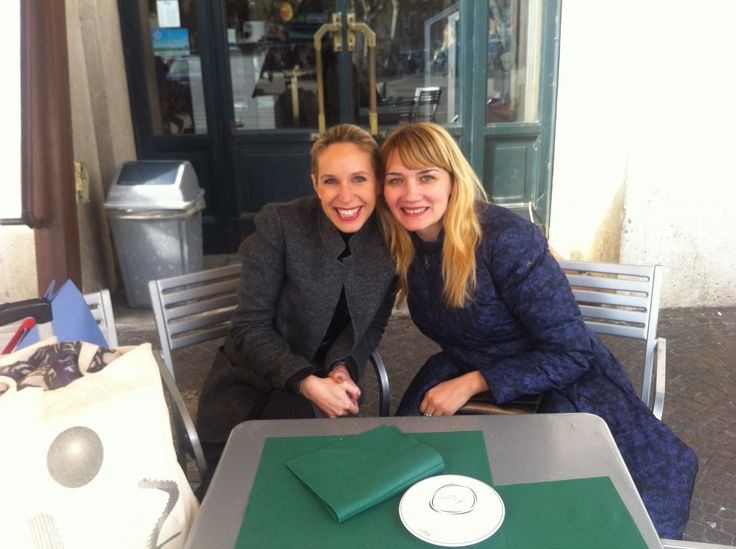 WITH MY RUSSIAN FRIEND FASHION DESIGNER ANNA SHEKUNOVA FOR ANNA JOLIE MILANO
