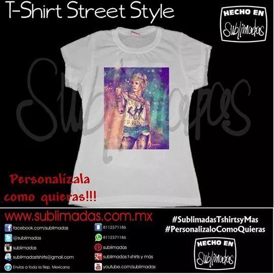 T-Shirt Street Style - Lady Di #SublimadasTshirtsyMas #PersonalizaloComoQuieras