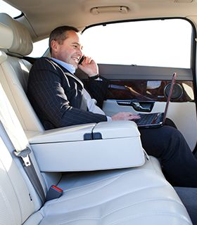 while you work, we drive  #businessman in luxury chaffeured limousine