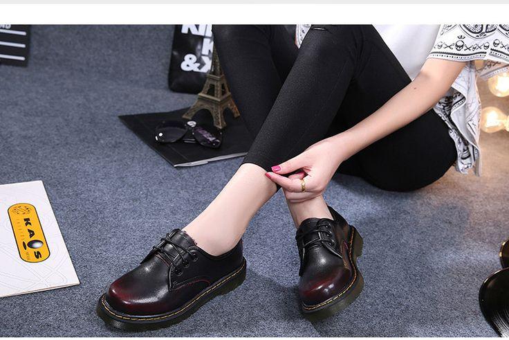 Adriamala женские кожаные туфли в ретро стиле осень весна модная повседневная обувь со шнуровкой Брендовая дизайнерская обувь женские Обувь на низком каблуке 2017 купить на AliExpress