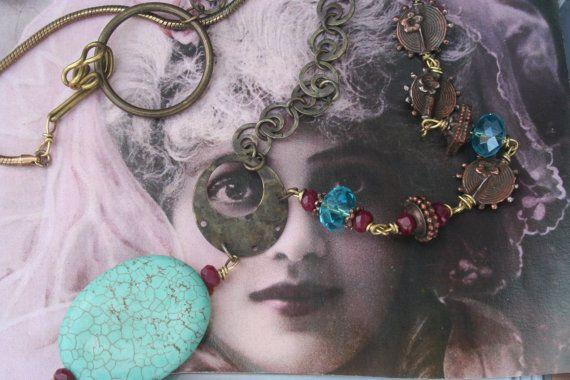 Assemblage jewelry Vintage Assemblage ooak by IRISHTREASURE