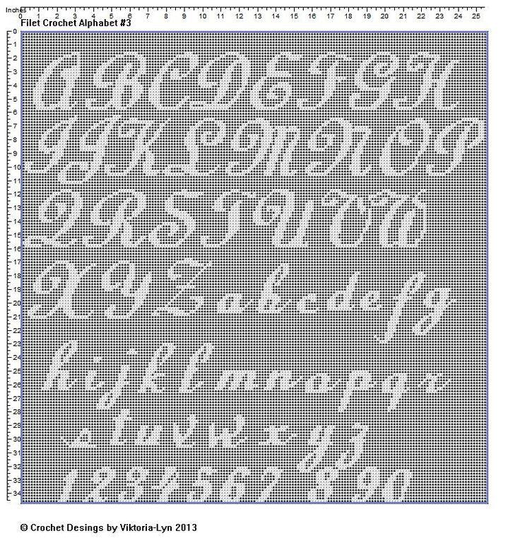 Free Knitting Pattern Alphabet Letters : 1000+ ideas about Crochet Patterns Filet on Pinterest ...
