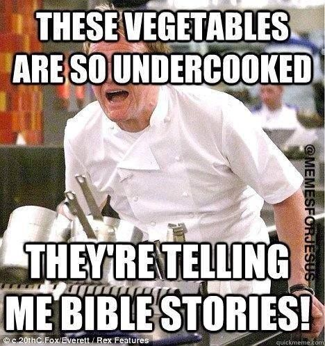 I forgot veggie tales existed and thought it was calling christians vegetables, which makes sense for some christians