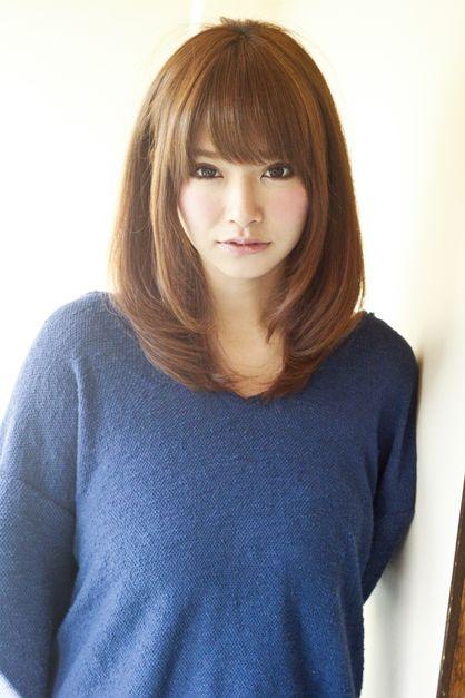 大人カワイイ内巻きミディアム|アフロートジャパン 【銀座の美容室】のヘアスタイル
