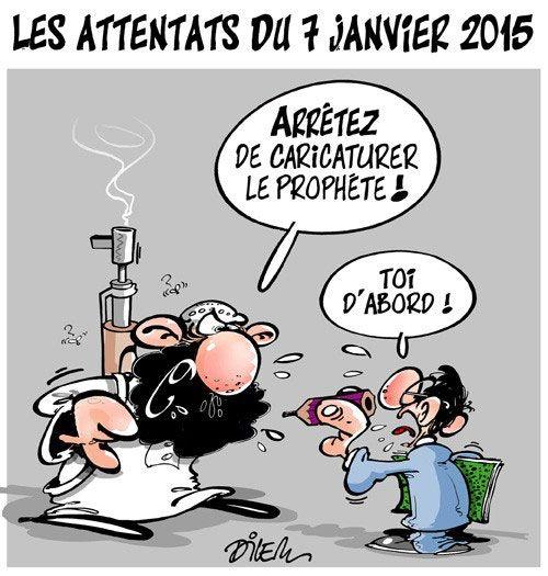 Dilem (2016-01-07) Charlie-Hebdo Les attentats du 7 janvier 2015 | Presse-dz