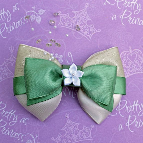 Princess Tiana The Princess and the Frog by SmallWorldBows on Etsy, $9.00
