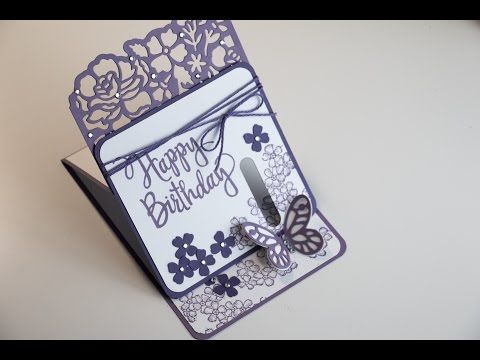 Fun Fold Butterfly Birthday Blossoms - Besondere Kartenform mit Produkte von Stampin' Up #9 - YouTube