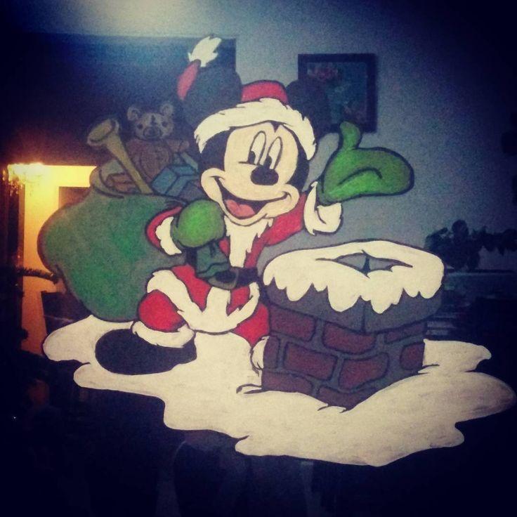 Peinture sur vitre pour no l mickey christmas noel f tes no l pinterest no l ps - Enlever peinture sur vitre ...
