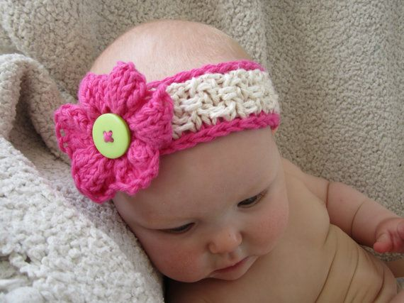 Knitting Pattern Baby Headband Flower : 17 Best images about Knitting baby on Pinterest Cable ...