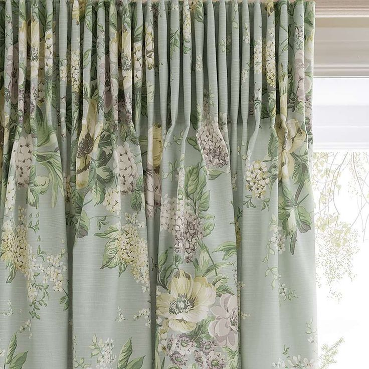 Dorma Brympton Duck-Egg Lined Pencil Pleat Curtains   Dunelm