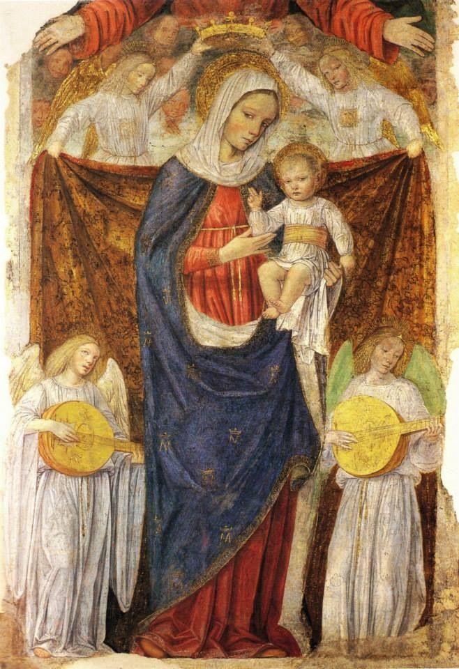 Bergognone (Ambrogio di Stefano da Fossano, Italian, Milan ca. 1453–1523 Milan): Madonna con Bambino, Angeli e Dio Padre (ca. 1490, Pinacoteca di Brera, Milan)