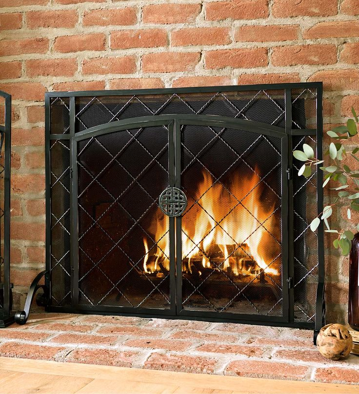 44 W x 33 H 2 Door Celtic Knot Flat Fire Screen  Best 25 Fireplace screens ideas on Pinterest Wrought iron