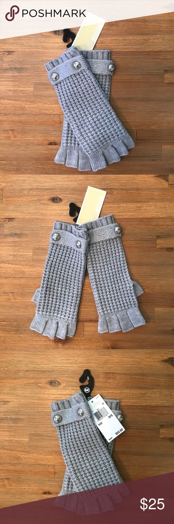 MICHAEL KORS GLOVES-NEW WITH TAGS! Cute fingerless Michael Kors Gloves! Never worn before, New with tags! These are neutral and go well with just about any outfit🙌🏽 Michael Kors Accessories Gloves & Mittens