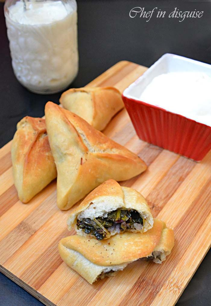 spinach turnovers @ chef in disguise
