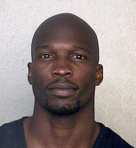 Chad Johnson, 35 -- shown here after he was arrested for violating his probation on May 20, 2013 in Fort Lauderdale, Florida -- was sentenced to 30 days in jail after angering the judge.
