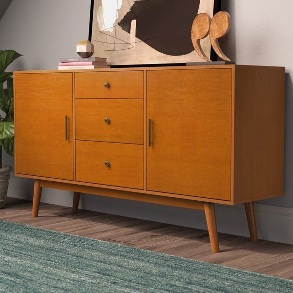 With Its Low Profile And Splayed Legs This Tv Stand Brings A Touch Of Scandinavian Style To Repurposed Furniture Furniture Tv Stands And Entertainment Centers