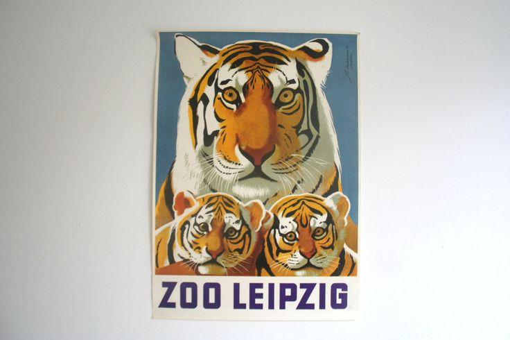 VERKAUF 30 % Rabatt! -Original Zoo Werbung Plakat - Leipzig (DDR/DDR) 1974 - design Tiger von vintageekho auf Etsy https://www.etsy.com/de/listing/251666062/verkauf-30-rabatt-original-zoo-werbung