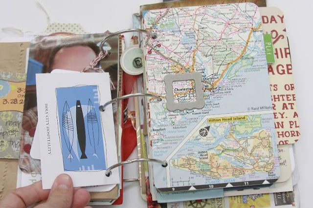 How to Make a Travel Mini-Album - great ideas that don't require a lot of time! She uses creative mementos from trips, like receipts, maps & vouchers & ends up with a unique journal.