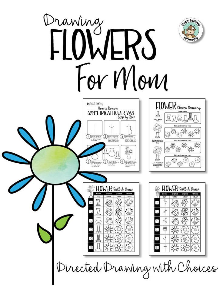 354 best drawing with kids images on pinterest sketches Teach me how to draw a flower