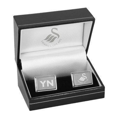Personalised Swansea City Cufflinks #SwanseaCity #FootballGifts £24.95