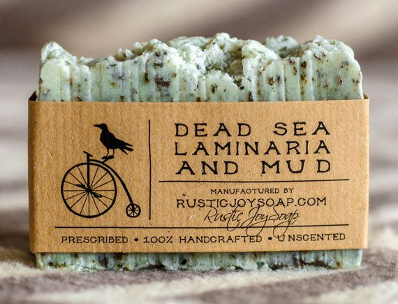 Dead Sea Mud and  Laminaria Soap- All Natural Soap,Handmade Soap,Dead Sea Mud, Laminaria Soap,anti-cellulite soap,Spa Soap,Unscented Soap.