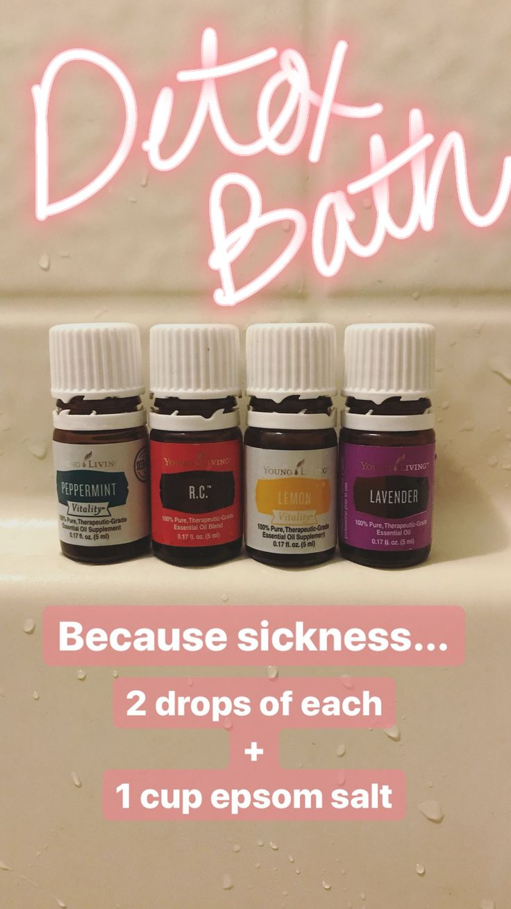 Detox bath blend… yes! I have all of these oils! Definitely doing this!
