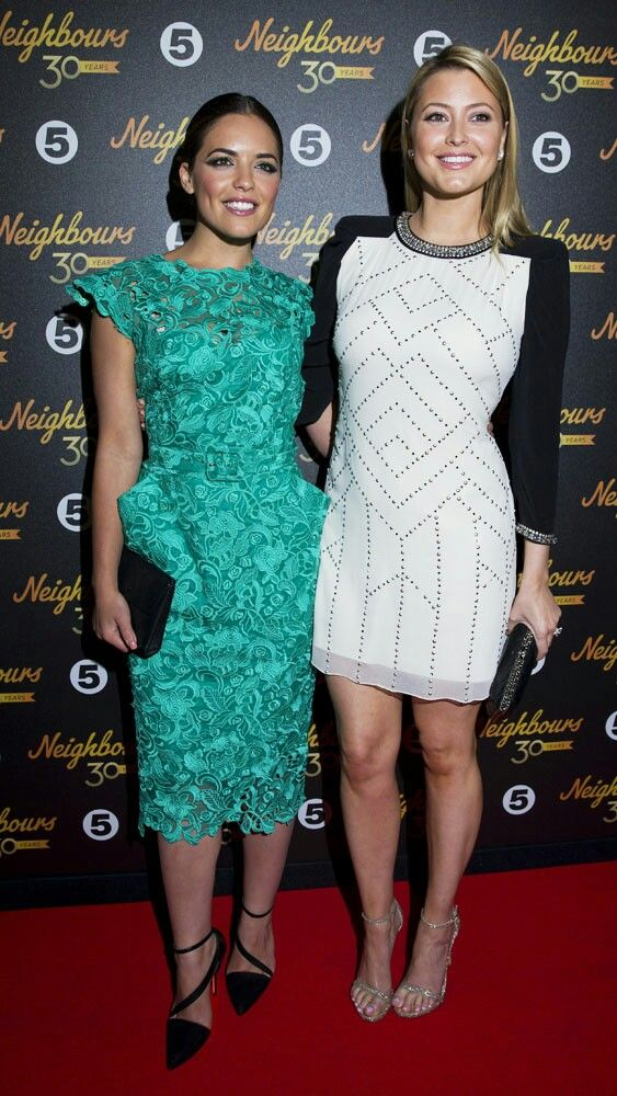 Olympia Valance (left) and her younger sister of Holly Valance.