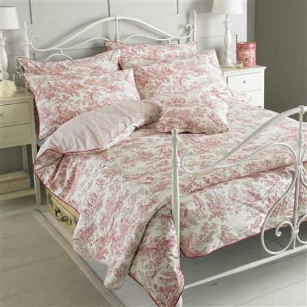 Paoletti Canterbury Tales Single Duvet Cover Set, Pink