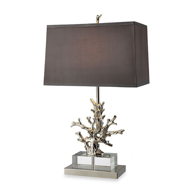 Buy dimond lighting covington polished nickel and clear crystal table lamp from bed bath beyond
