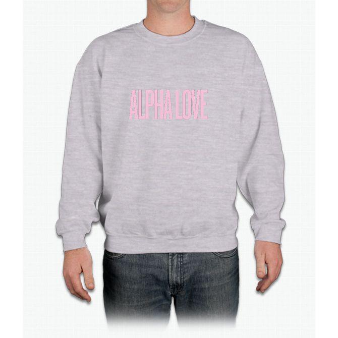 Alpha Love (ADPi) Beyonce Inspired Crewneck Sweatshirt