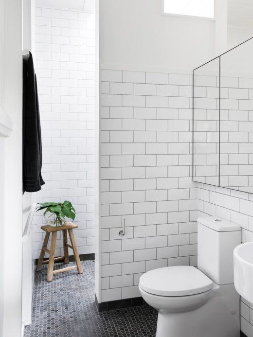 Simple cost effective tiles http://thedesignfiles.net/2016/06/durham-house/