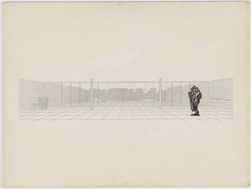 sixtensason:  Ludwig Mies van der Rohe. Court House Project, Interior perspective. after 1938