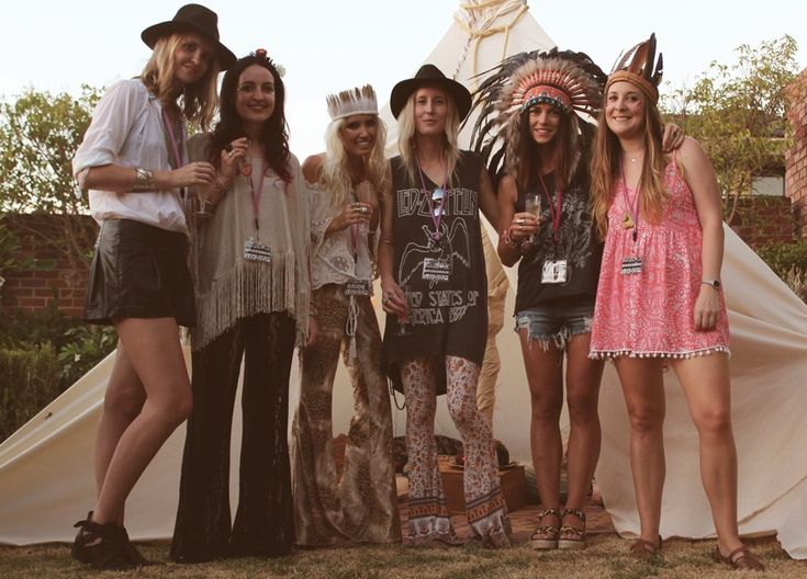 bridesmaid party in festival theme love the idea  hippy