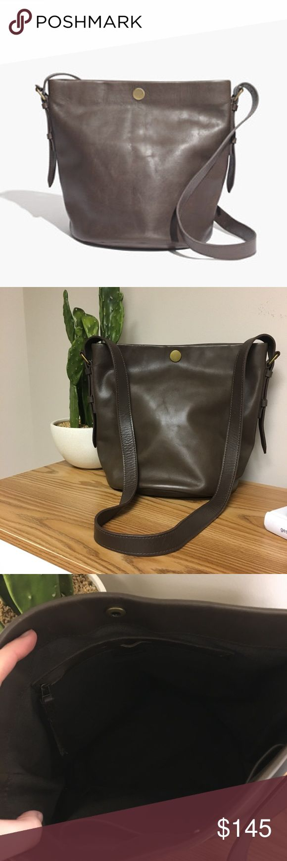 Madewell Portland Bucket Bag Great condition! Color is gray-brown. Madewell Bags Crossbody Bags
