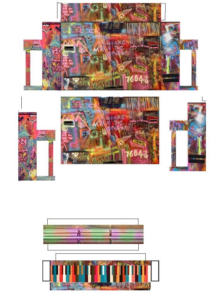 Coldplay - Mylo Xyloto Piano Papercraft by facundoneglia